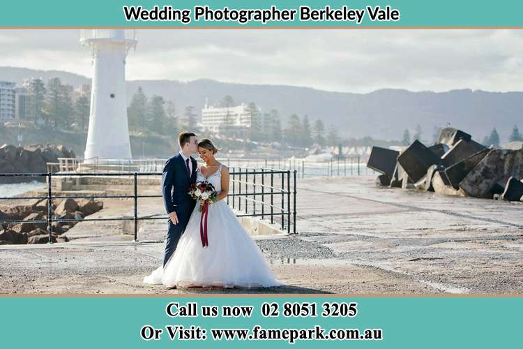 Photo of the Bride and Groom at the Watch Tower Berkeley Vale NSW 2261