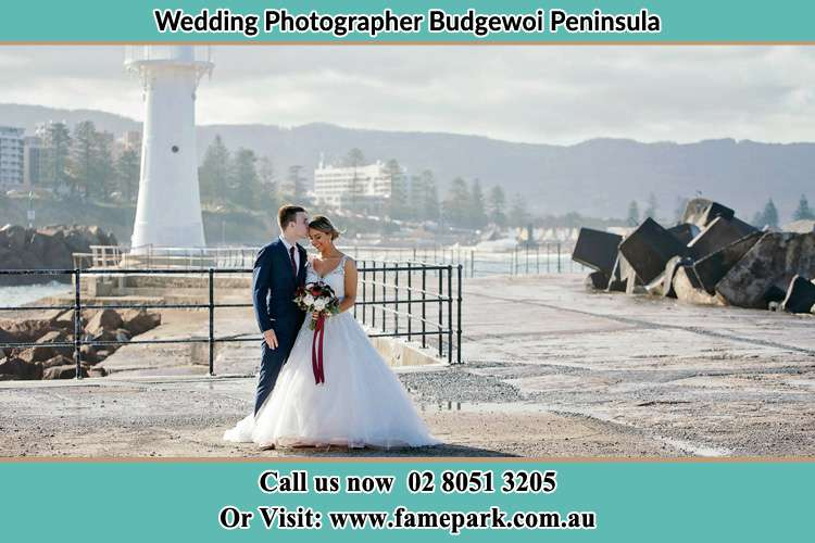 Photo of the Bride and Groom at the Watch Tower Budgewoi Peninsula