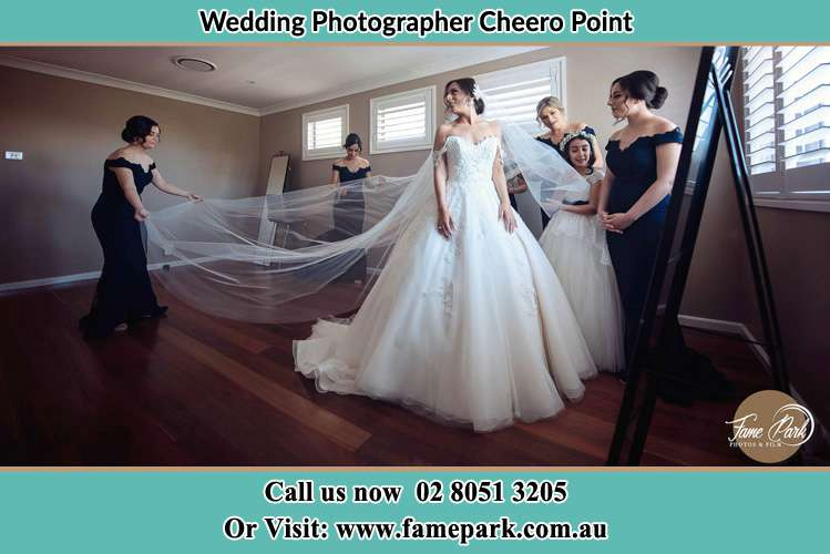 Photo of the Bride and the secondary sponsors preparing Cheero Point NSW 2083