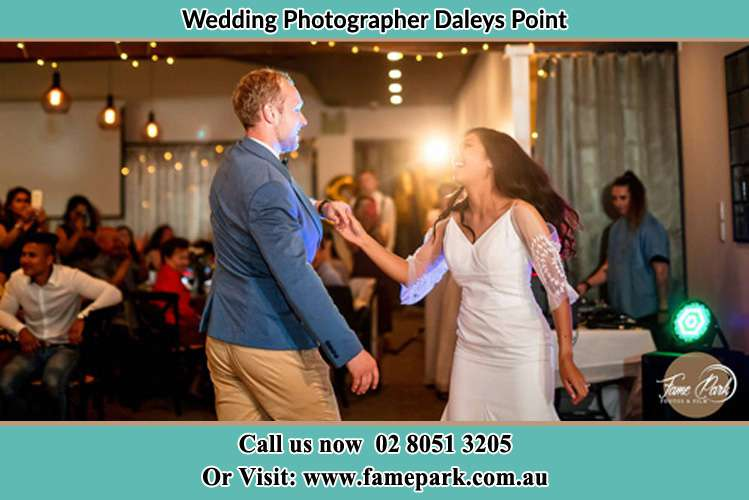 Photo of the Groom and the Bride dancing Daleys Point NSW 2257