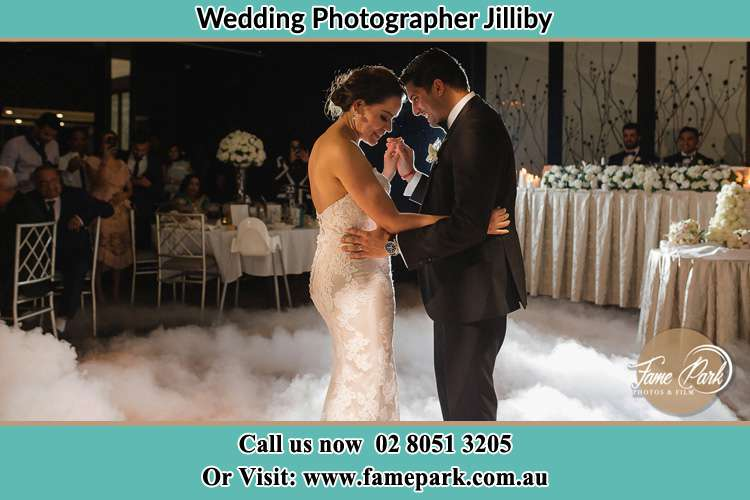 Photo of the Bride and Groom dancing Jilliby
