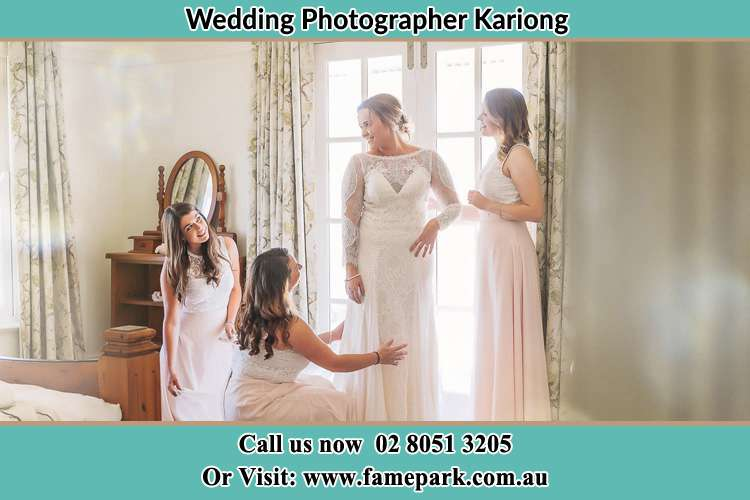 Photo of the Bride and the bridesmaids preparing Kariong NSW 2250