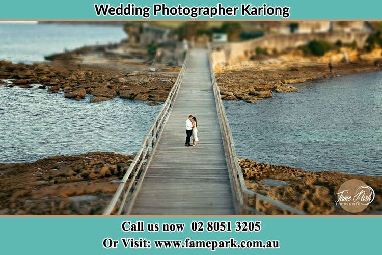 Photo of the Groom and the Bride at the Bridge Kariong NSW 2250