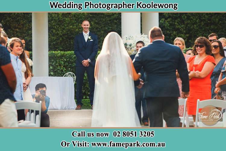 Photo of the Bride with her father walking the aisle Koolewong NSW 2256