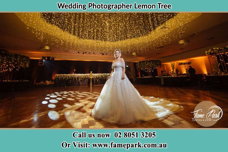 Photo of the Bride on the dance floor Lemon Tree NSW 2259