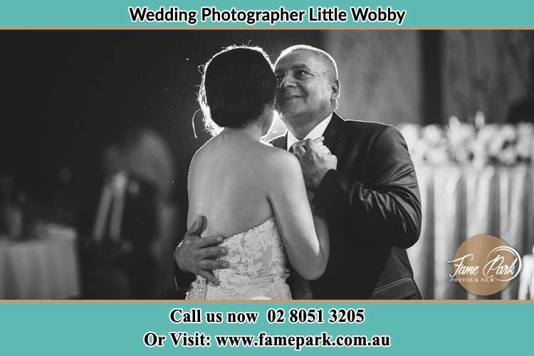 Photo of the Bride dancing with her father Little Wobby NSW 2256