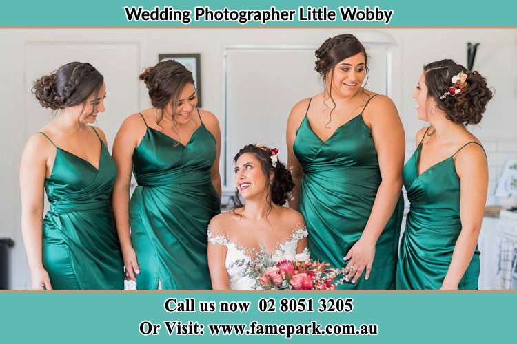 Photo of the Bride and the bridesmaids Little Wobby NSW 2256