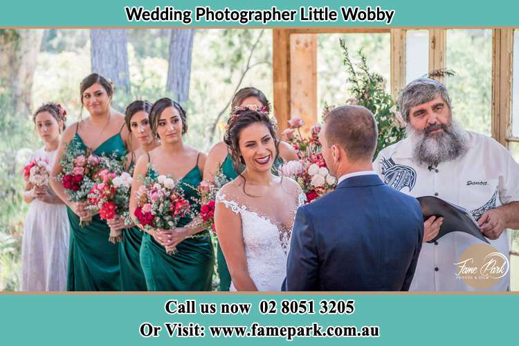 Photo of the Bride and the Groom at the matrimony Little Wobby NSW 2256