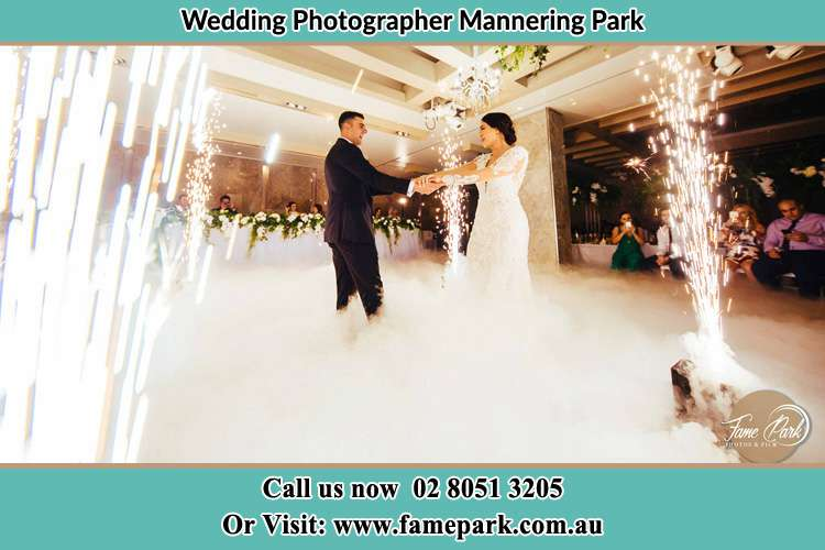 Photo of the Groom and the Bride dancing on the dance floor Mannering Park NSW 2250