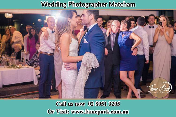 Photo of the Bride and the Groom dancing Matcham NSW 2250