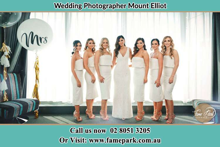 Photo of the Bride and the bridesmaids Mount Elliot NSW 2250