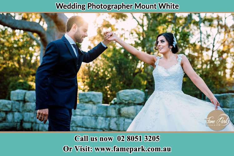 Photo of the Groom and the Bride dancing Mount White NSW 2250