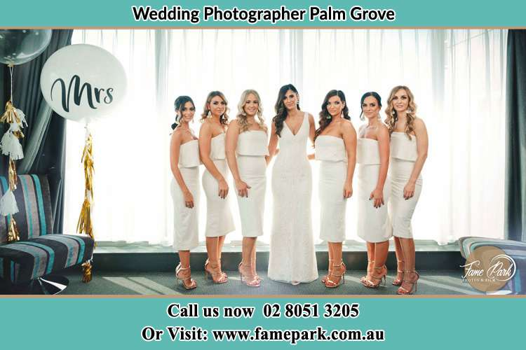 Photo of the Bride and the bridesmaids Palm Grove NSW 2258