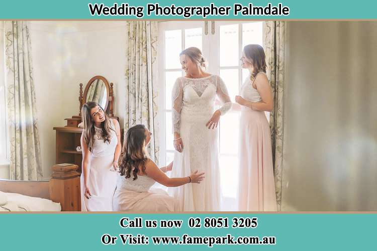 Photo of the Bride and the bridesmaids preparing Palmdale NSW 2258