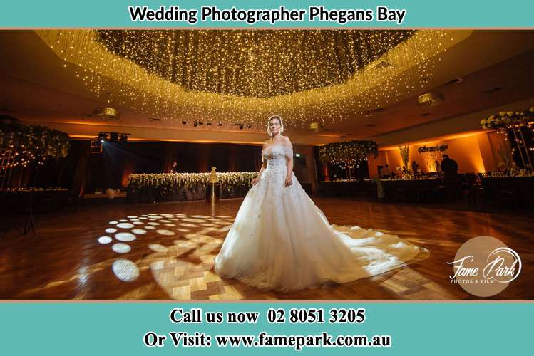 Photo of the Bride at the dance floor Phegans Bay NSW 2256