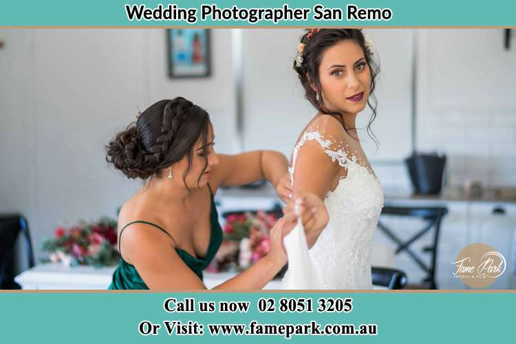 Photo of the Bride and the bridesmaid preparing San Remo NSW 2262