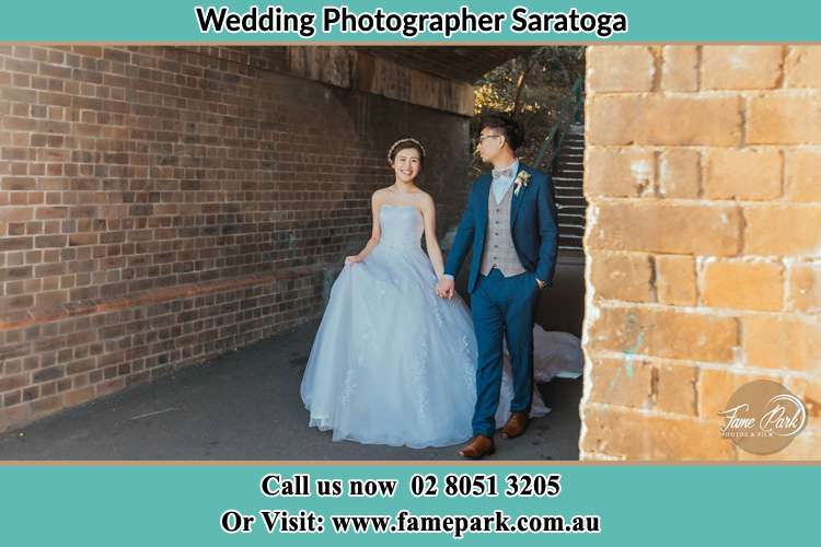 Photo of the Bride and the Groom walking Saratoga NSW 2251