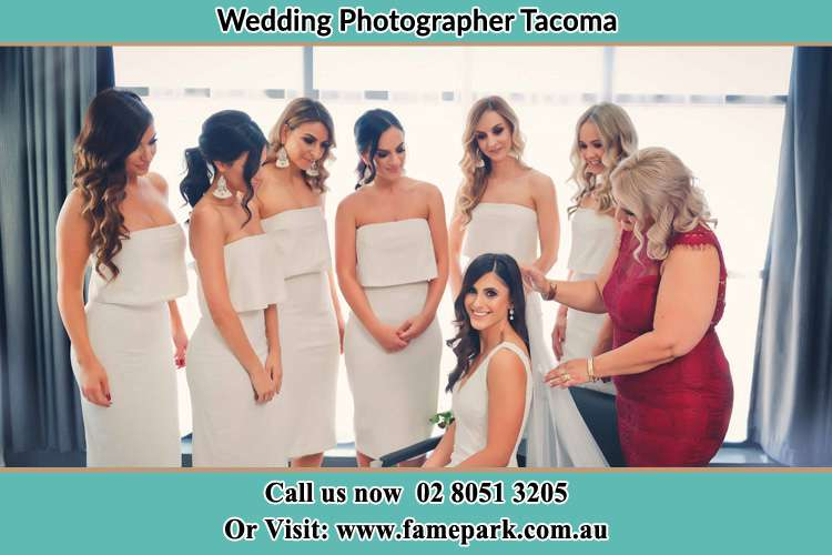 Photo of the Bride and the secondary sponsor preparing Tacoma NSW 2259