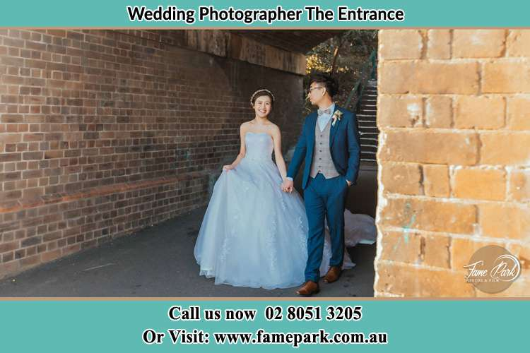 Photo of the Bride and the Groom walking The Entrance NSW 2261