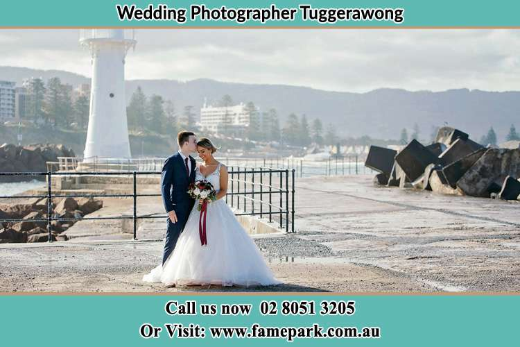 Photo of the Bride and Groom at the Watch Tower Tuggerawong NSW 2259