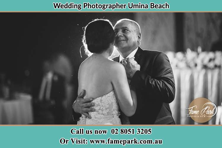Photo of the Bride dancing with her father Umina Beach NSW 2257