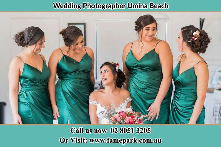 Photo of the Bride and the bridesmaids Umina Beach NSW 2257
