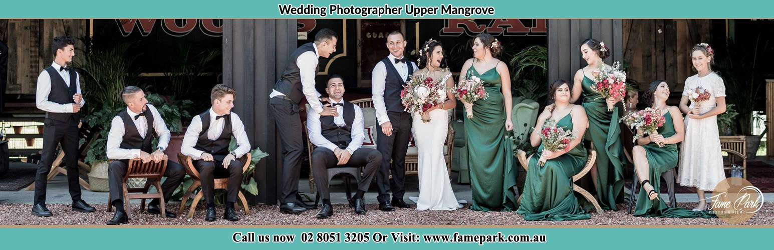 Photo of the Groom and the Bride with the entourage Upper Mangrove NSW 2250