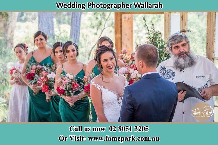 Photo of the Bride and the Groom at the matrimony Wallarah NSW 2259