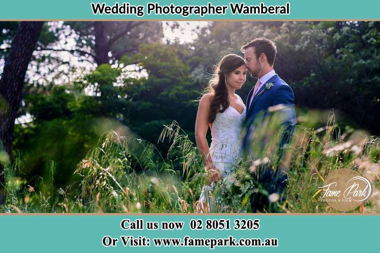 Photo of the Bride and the Groom at the yard Wamberal NSW 2260