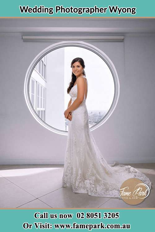 Photo of the Bride near the window Wyong NSW 2259