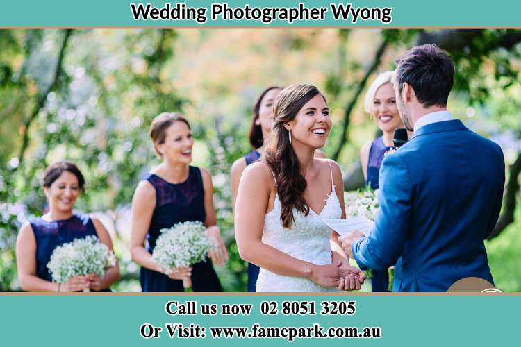Photo of the Groom testifying love to the Bride Wyong NSW 2259